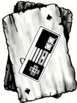 B&W Ace Playing cards Design With Old School Gamer Motif Vinyl Car Sticker Decal 100x75mm